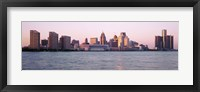Framed Detroit Skyline with Water