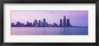 Framed Detroit skyline, Michigan
