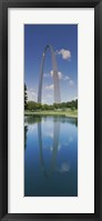 Framed Reflection of an arch structure in a river, Gateway Arch, St. Louis, Missouri, USA