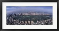 Framed Aerial Central Park New York NY USA