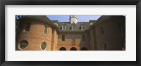 Framed Low angle view of a government building, Capitol Building, Colonial Williamsburg, Virginia, USA