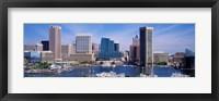 Framed Inner Harbor Federal Hill Skyline Baltimore MD