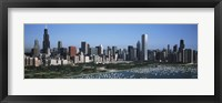 Framed Chicago Skyline with Water