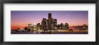 Framed Night Skyline Detroit MI