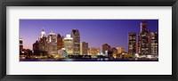 Framed Dusk Detroit, Michigan, USA