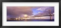 Framed Oakland Bay Bridge San Francisco California USA