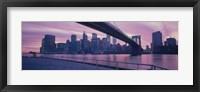 Framed Brooklyn Bridge New York NY