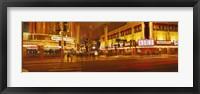 Framed Fremont Streeat at night, Las Vegas, Nevada