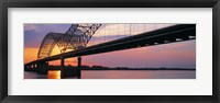 Framed Sunset, Hernandez Desoto Bridge And Mississippi River, Memphis, Tennessee, USA