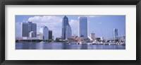 Framed Skyscrapers at the waterfront, Main Street Bridge, St. John's River, Jacksonville, Florida, USA
