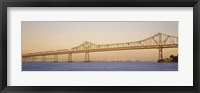 Framed Low angle view of a bridge, Bay Bridge, California, USA