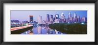 Framed Philadelphia Lit Up at Night