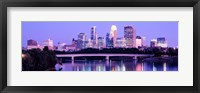 Framed Minneapolis in Purple