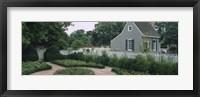 Framed Building in a garden, Williamsburg, Virginia, USA