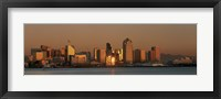 Framed San Diego Skyline at Sunset