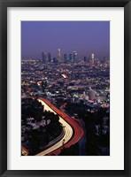 Framed Hollywood Freeway Los Angeles CA