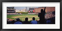 Framed Baseball Game Baltimore Maryland