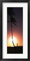 Framed Runner on Magic Island, Hawaii (vertical)