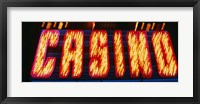 Framed Casino Sign Las Vegas NV