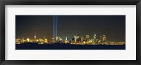 Framed New York City Lit Up at Night