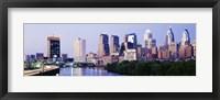 Framed Skyline View of Downtown Philadelphia