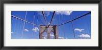 Framed Brooklyn Bridge Cables and Tower, New York City