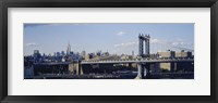 Framed Bridge over a river, Manhattan Bridge, Manhattan, New York City