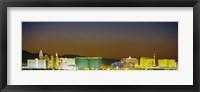 Framed Las Vegas skyline at night, Nevada