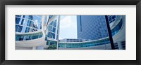 Framed Low angle view of skyscrapers, Enron Center, Houston, Texas, USA