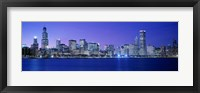 Framed Bright Blue View of Chicago from the Water