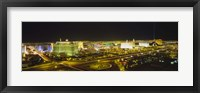 Framed Night view of Las Vegas, Nevada