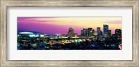 Framed Phoenix Skyline at Night