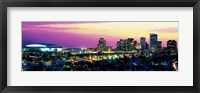 Framed Phoenix Skyline at Night
