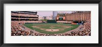Framed High angle view of a baseball field, Baltimore, Maryland