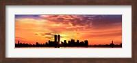 Framed US, New York City, skyline, sunrise