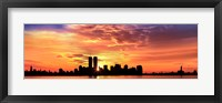 Framed US, New York City, skyline, sunrise