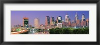 Framed Philadelphia, Pennsylvania Skyline at Night