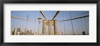 Framed USA, New York State, New York City, Brooklyn Bridge at dawn