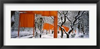 Framed Gates Project in Snow