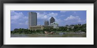 Framed Columbus, Ohio on a Cloudy day