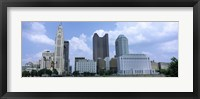 Framed USA, Ohio, Columbus, Clouds over tall building structures