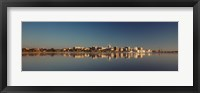 Framed USA, Wisconsin, Madison, Lake Monona, City on a waterfront