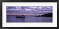 Framed Ferry in the sea, Bainbridge Island, Seattle, Washington State