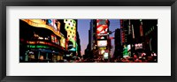 Framed Times Square, New York City at night
