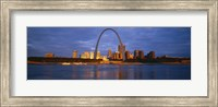 Framed Buildings At The Waterfront, Mississippi River, St. Louis, Missouri, USA