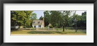 Framed Fence in front of a house, Colonial Williamsburg, Williamsburg, Virginia, USA