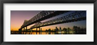 Framed Low angle view of a bridge across a river, New Orleans, Louisiana, USA