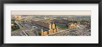 Framed Aerial view of a baseball stadium in a city, Oriole Park at Camden Yards, Baltimore, Maryland, USA