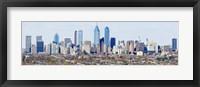 Framed Philadelphia skyline, Pennsylvania, USA