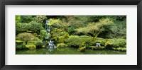 Framed Waterfall in a garden, Japanese Garden, Washington Park, Portland, Oregon, USA